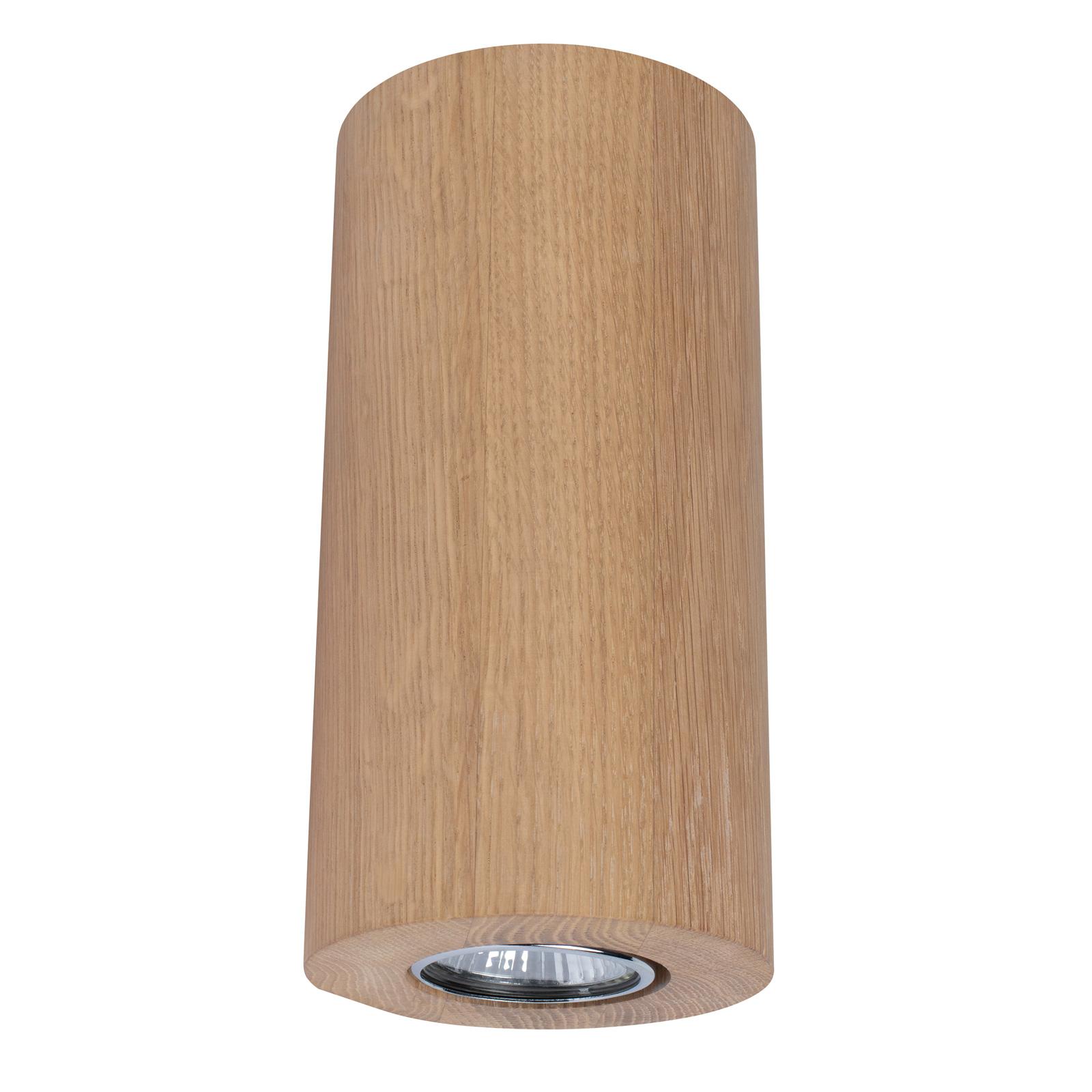 Wandlamp Wooddream 1-lamp eiken, rond, 20cm