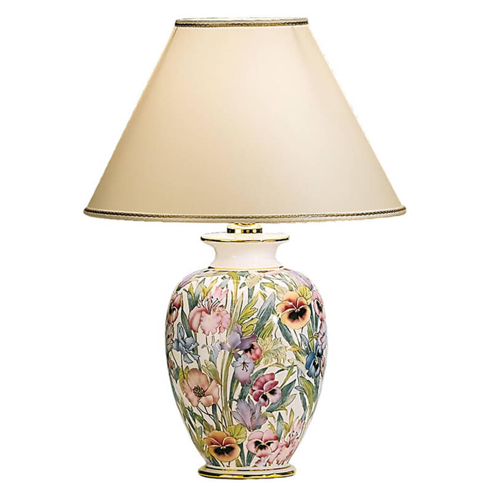 Lampe à poser peinte main GIARDINO PANSE 30 cm