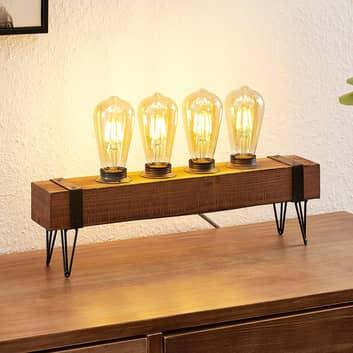Lindby Sverina bordslampa av trä, 4 lampor