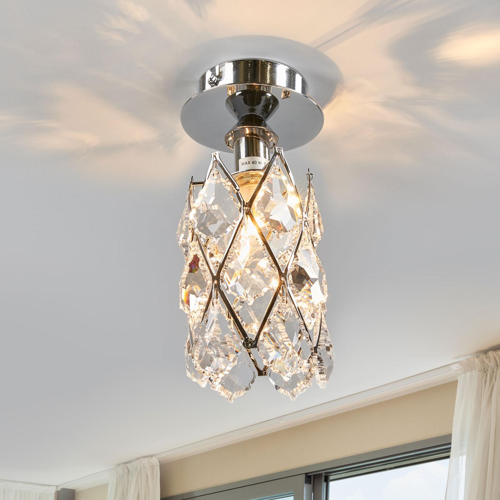 Wąska lampa sufitowa CHARLENE chromowana