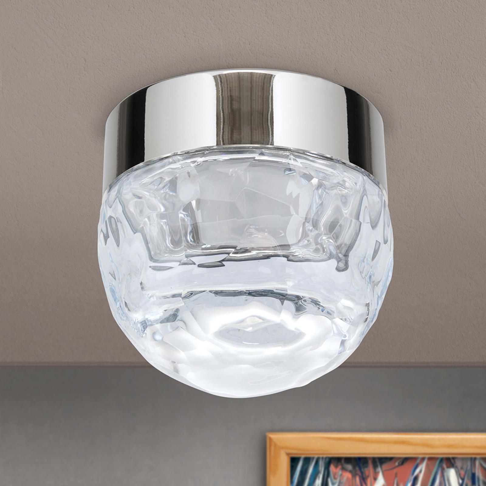 LED plafondlamp Ball 1-lamp, nikkel, rond