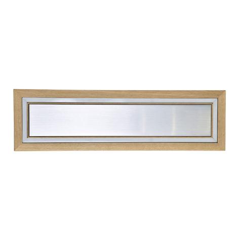 HerzBlut Otto O LED-Deckenlampe Rechteck Klick&Dim