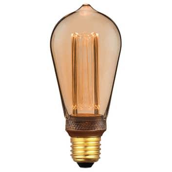 LED-Rustikalampe E27 5W, 1.800K 3-Step-dim, gold