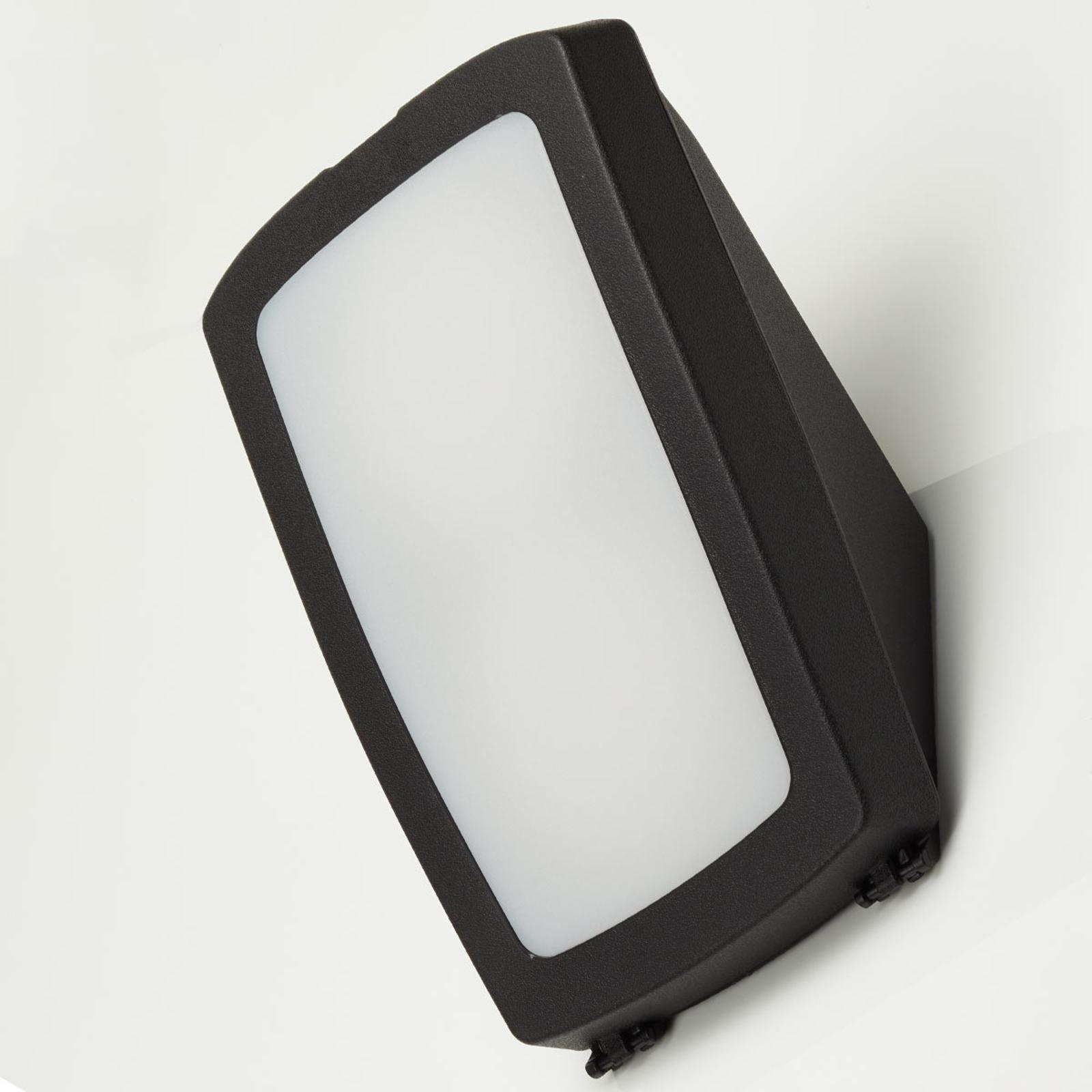 LED buitenwandlamp Germana, zwart, 2 x 7W CCT