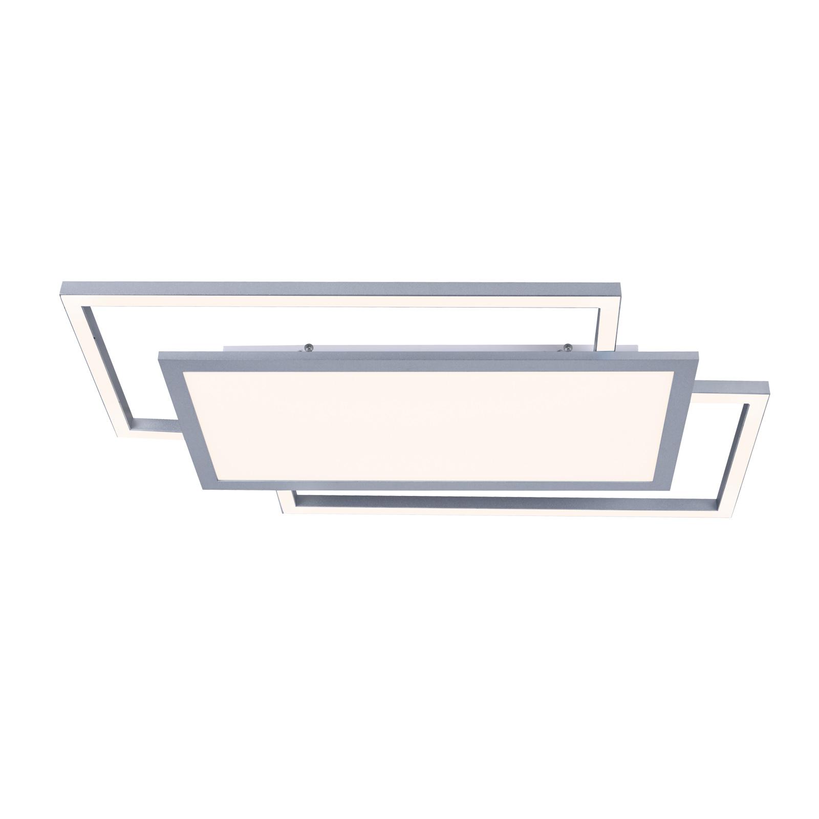 Lucande Ciaran LED plafondlamp, rechthoeken, CCT