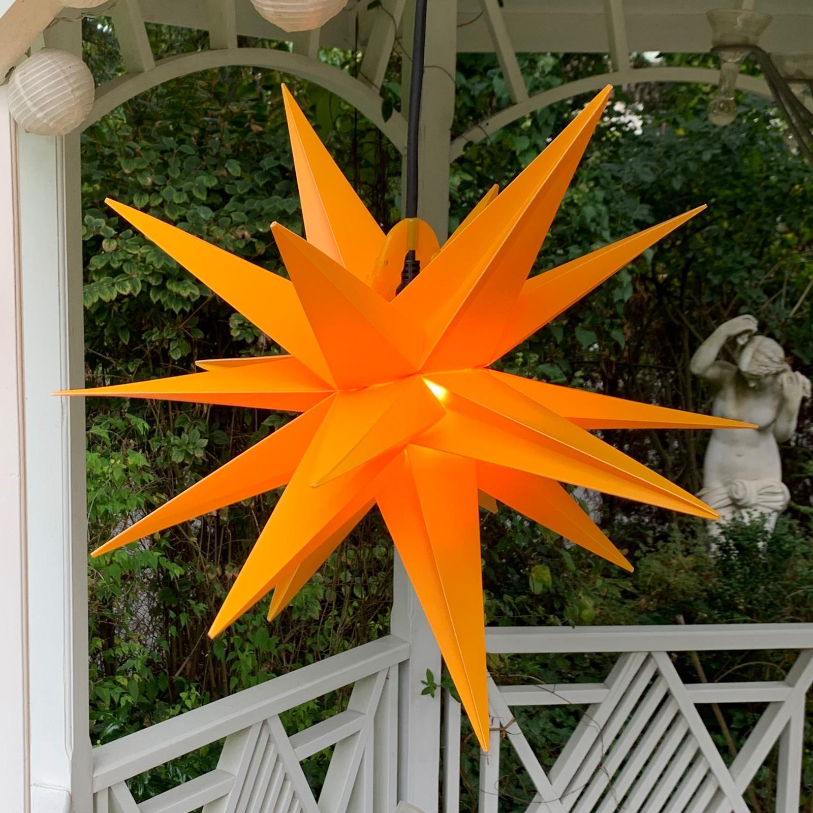 Deko-Stern für außen, 18-Zacker, Ø 40 cm gelb