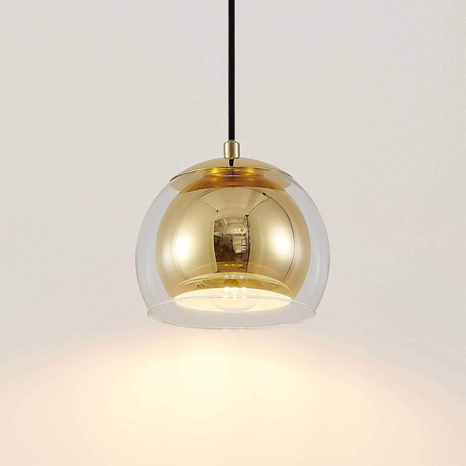 Lindby Daymien lampa wisząca, 1-pkt., mosiądz