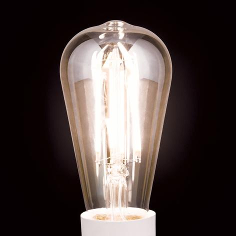 LED rustikální žárovka E27 7W, teplá bílá stmívat.