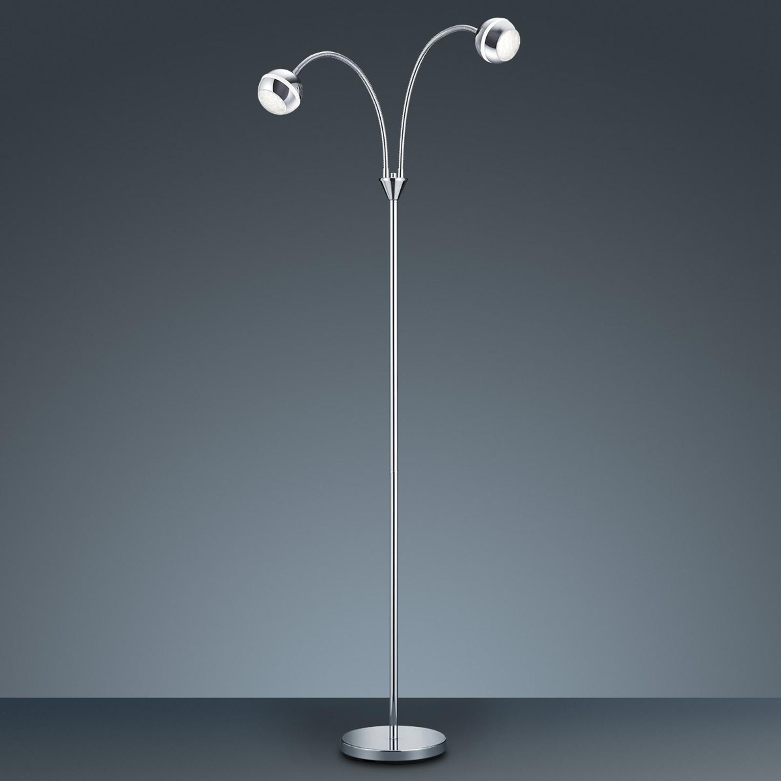 Dwupunktowa lampa stojąca LED Ada