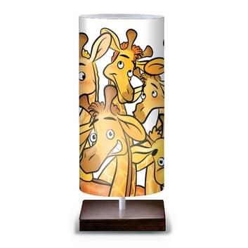 Morsom bordlampe Giraffe