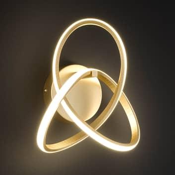 LED-Wandleuchte Indigo, gold matt