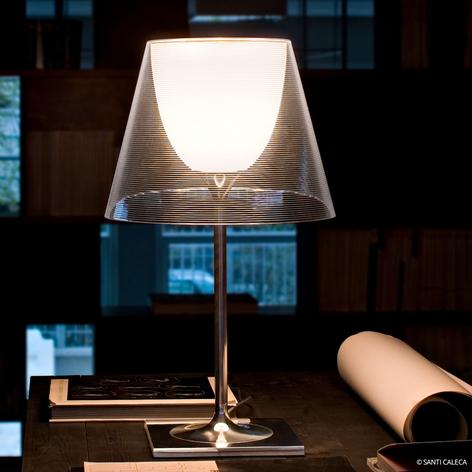 Lámp. de mesa moderna KTRIBE T2 con pantalla doble