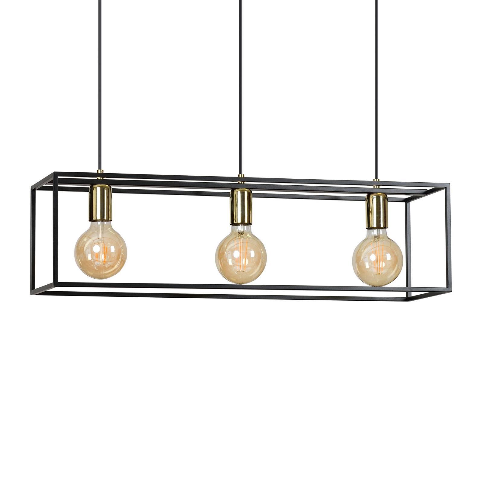 Suspension Karmen 3, à 3 lampes, noire
