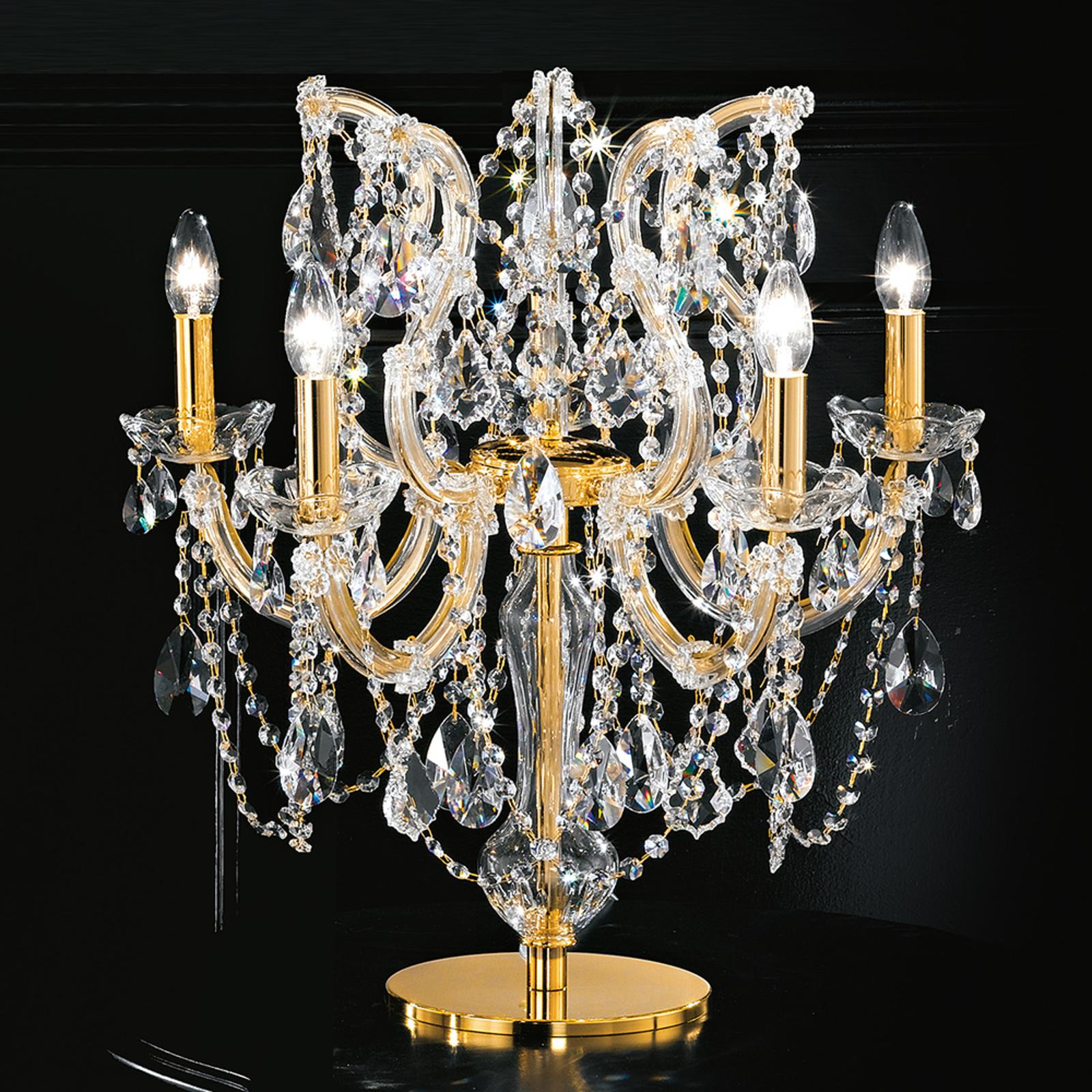 Lampe à poser Annino à éléments Swarovski 5 lampes