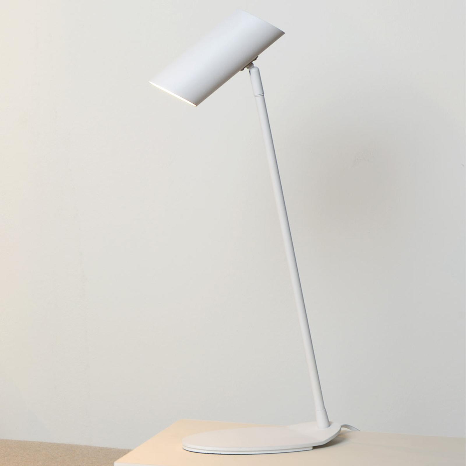 Witte bureaulamp Hester van metaal