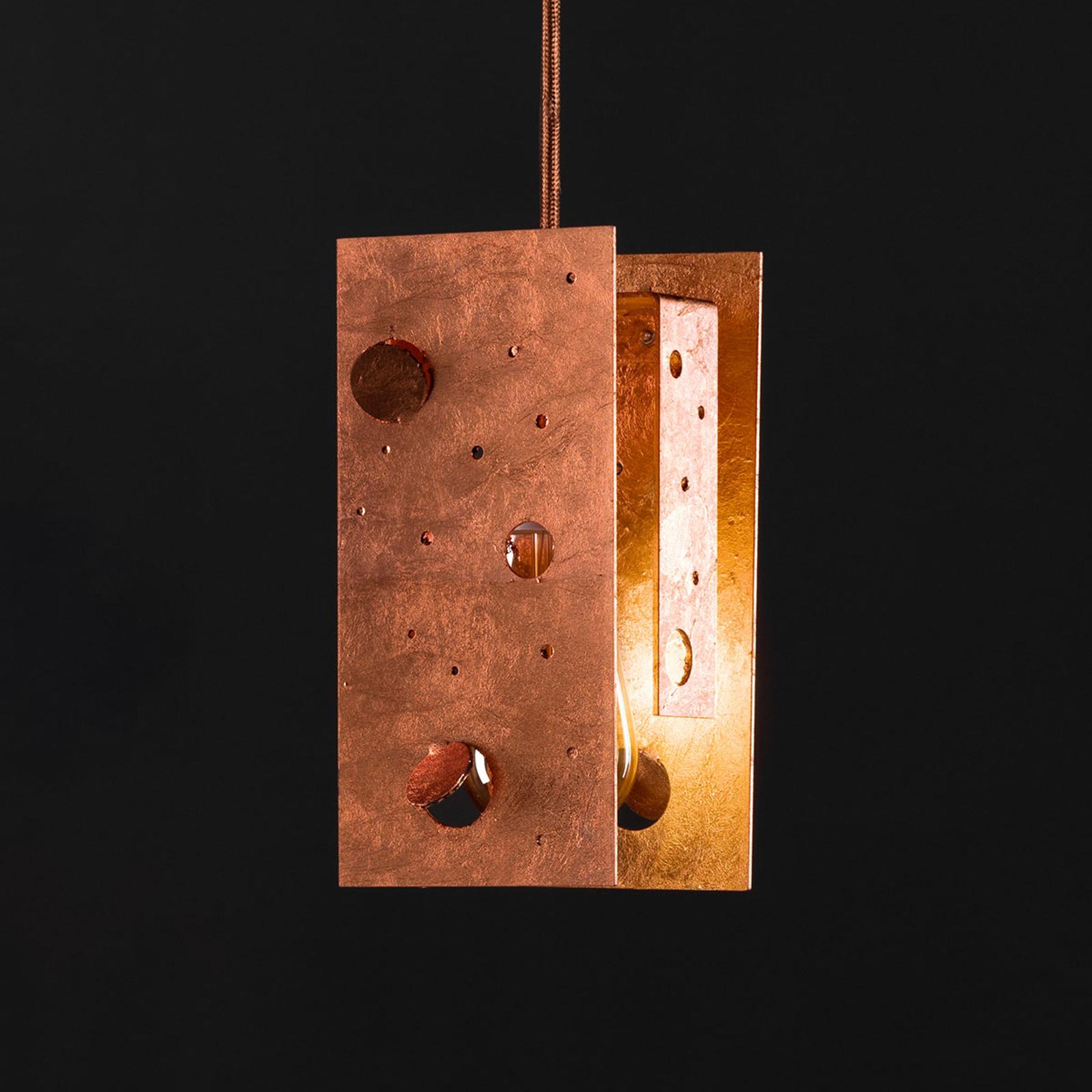 Knikerboker Buchi lampa wisząca 19x19x40cm miedź