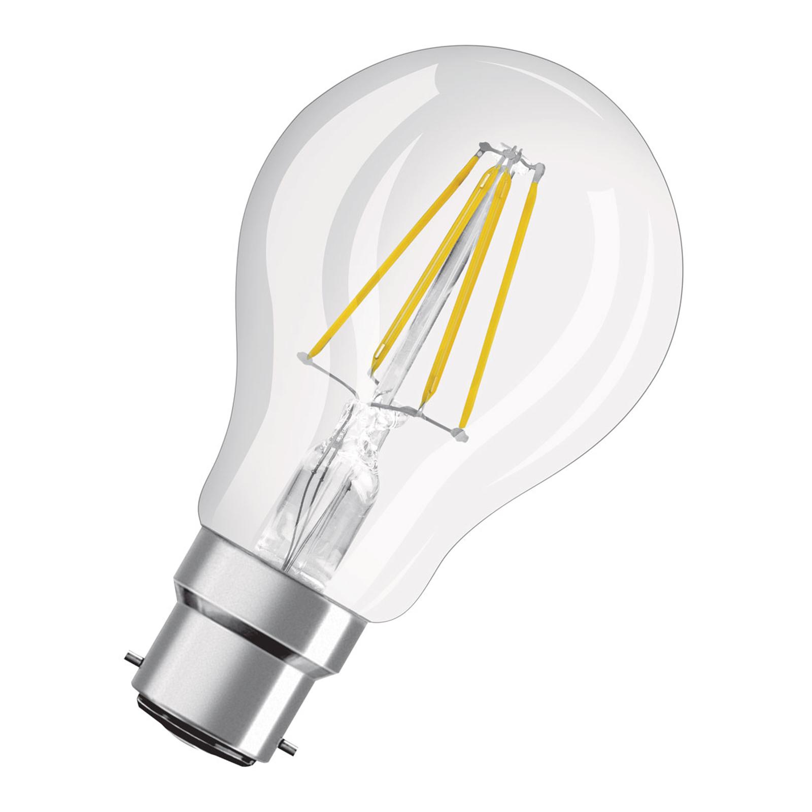 OSRAM LED-Lampe B22d Classic A60 827 7W klar