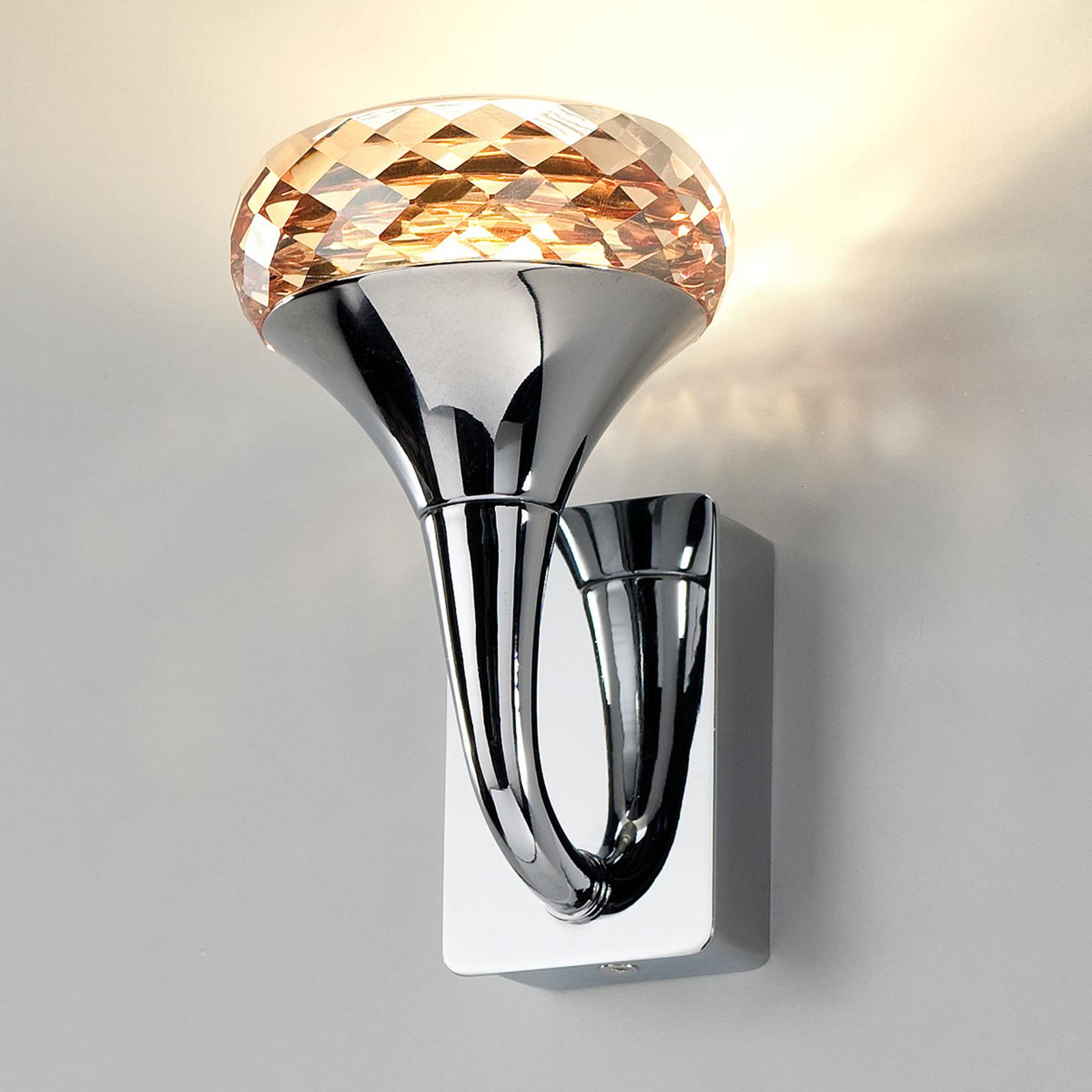 Applique LED de designer cristalline Fairy ambre