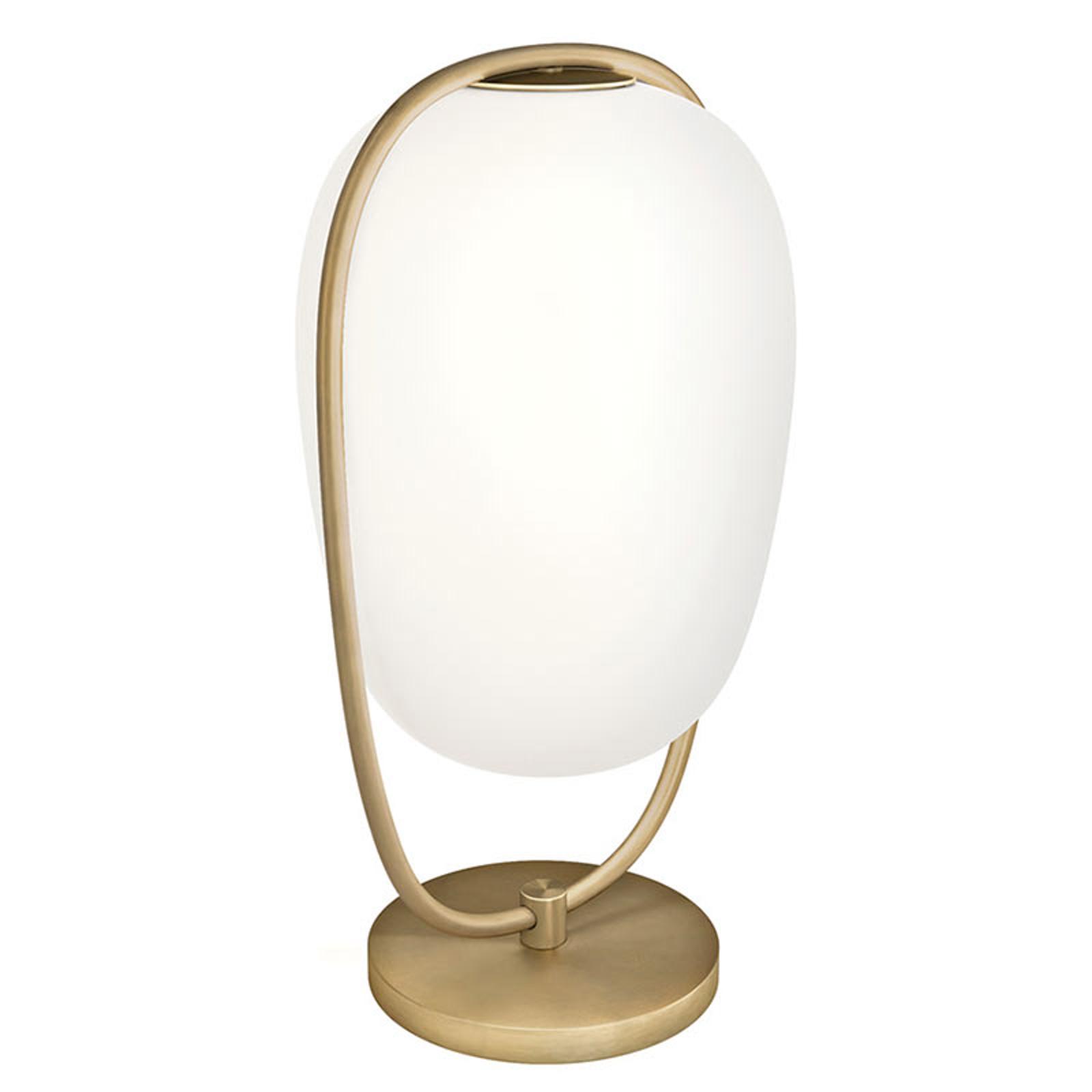 Kundalini Lannà tafellamp m. mondgeblazen glas
