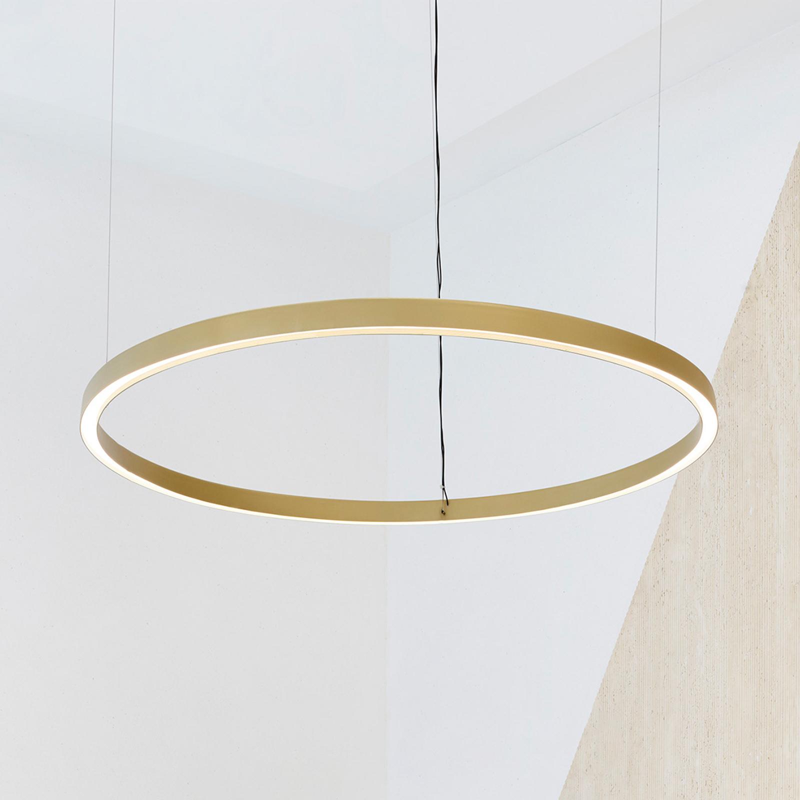 Luceplan Compendium Circle 110cm, ottone
