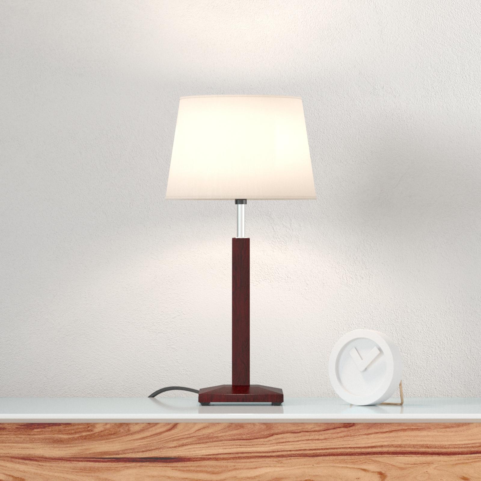 Stolní lampa Zanzibar lt, ebenové dřevo
