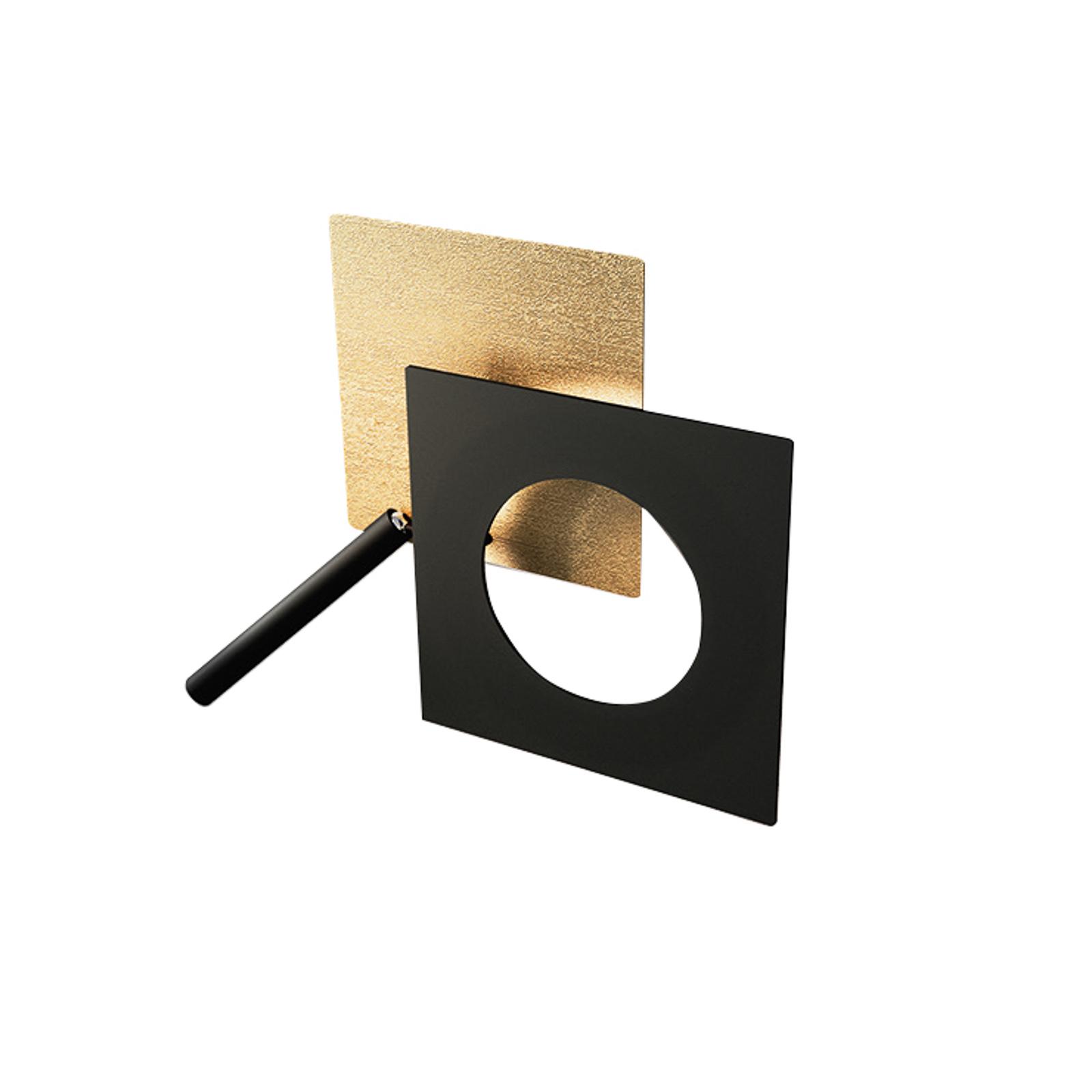 ICONE LED-Wandleuchte Petra 21.L, gold, schwarz