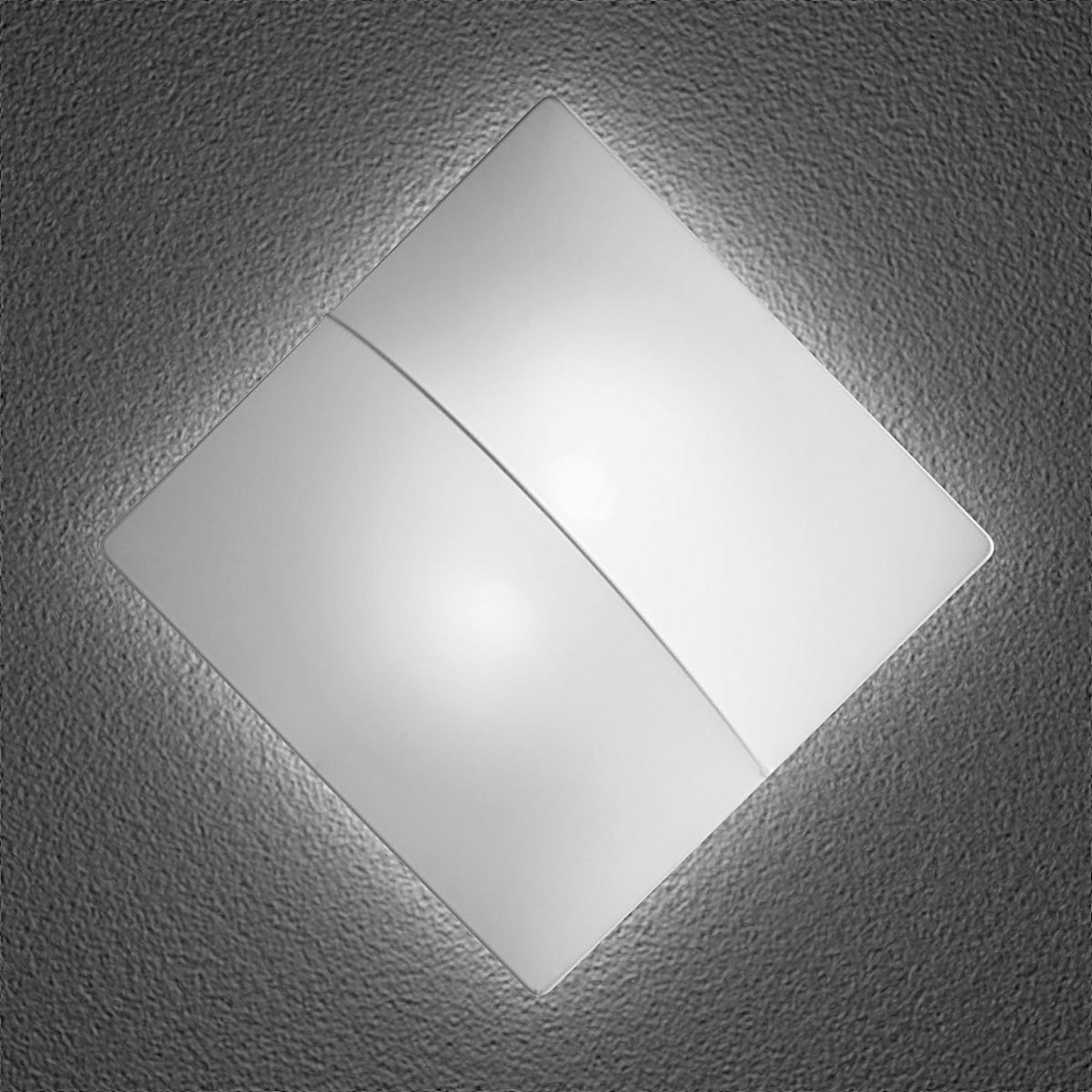 Nelly S - vierkante wandlamp met stof 60cm