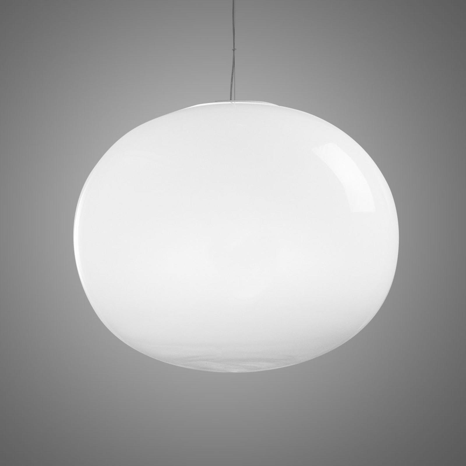 Biała kulista lampa wisząca Aria 45 cm