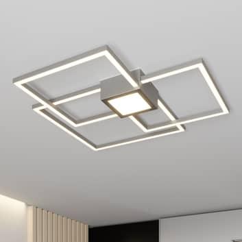 Lindby Duetto lámpara LED de techo níquel 38W