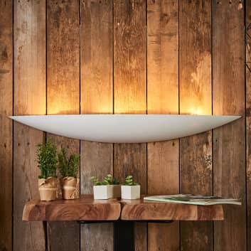 Grote gips wandlamp Tommi in wit