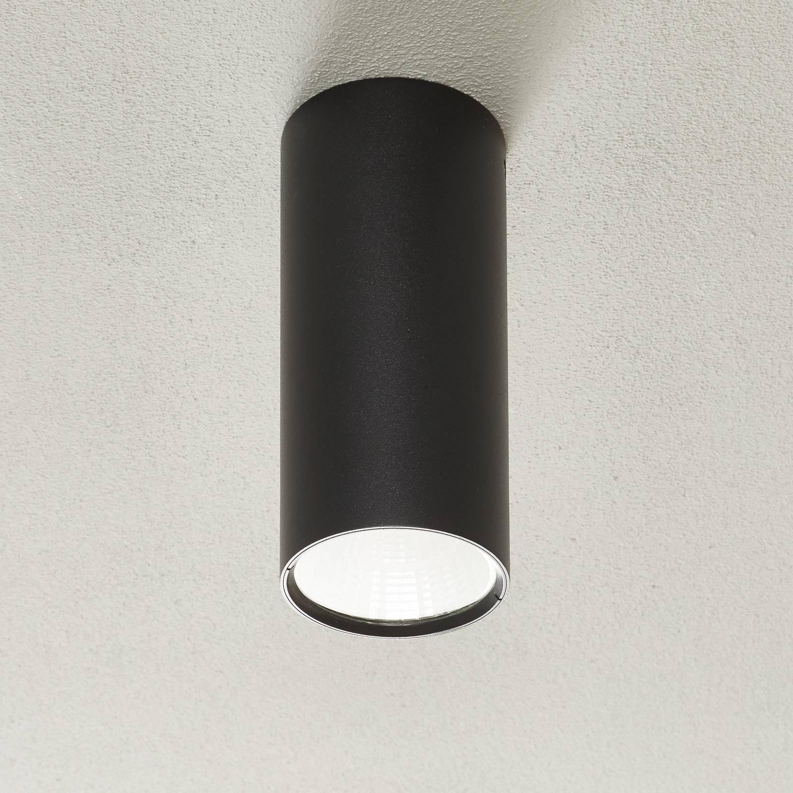 Lucande Takio LED downlight 2700K Ø10cm zwart