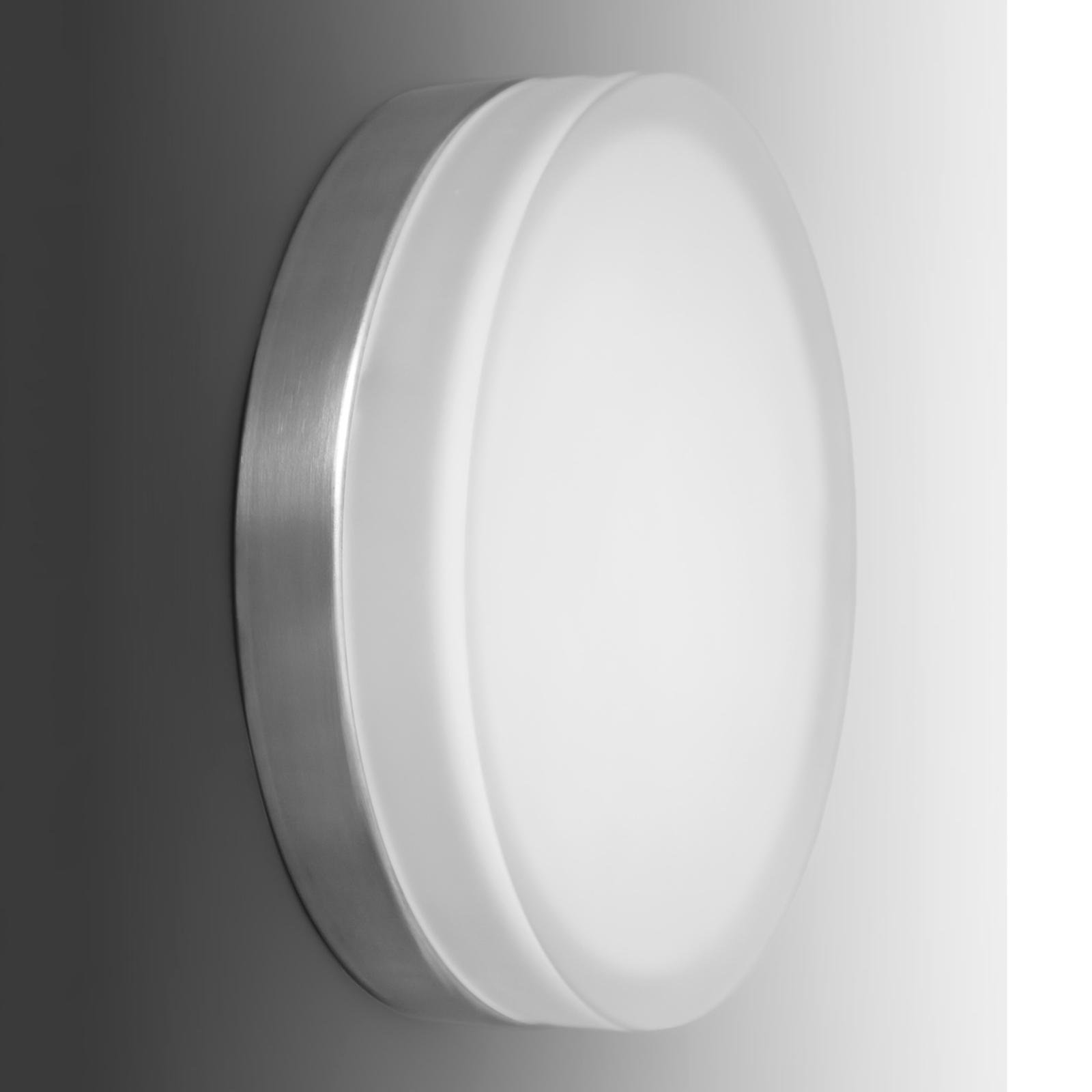 Eenvoudige, ronde led wandlamp Briq 01, 4.000 K