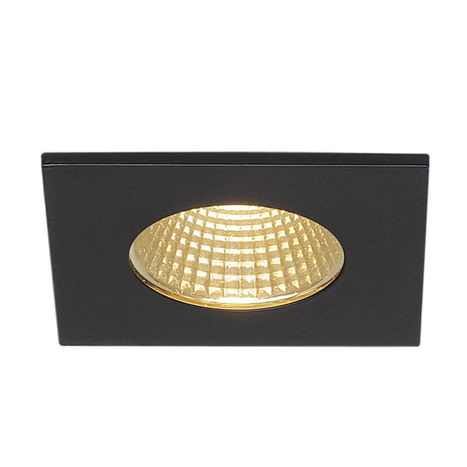 SLV Patta-I LED-downlight kantet, matt svart