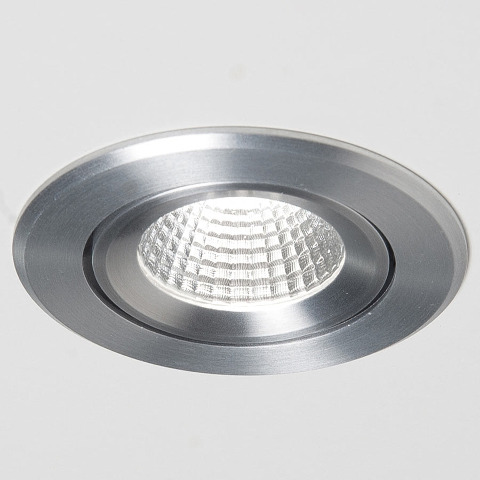 Agon Round LED inbouwspot 3000K 40° alu geborsteld