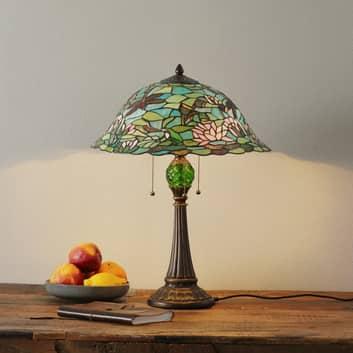 Lámpara de mesa Waterlily de estilo Tiffany