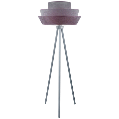 Driepootvloerlamp Lotos, grafiet