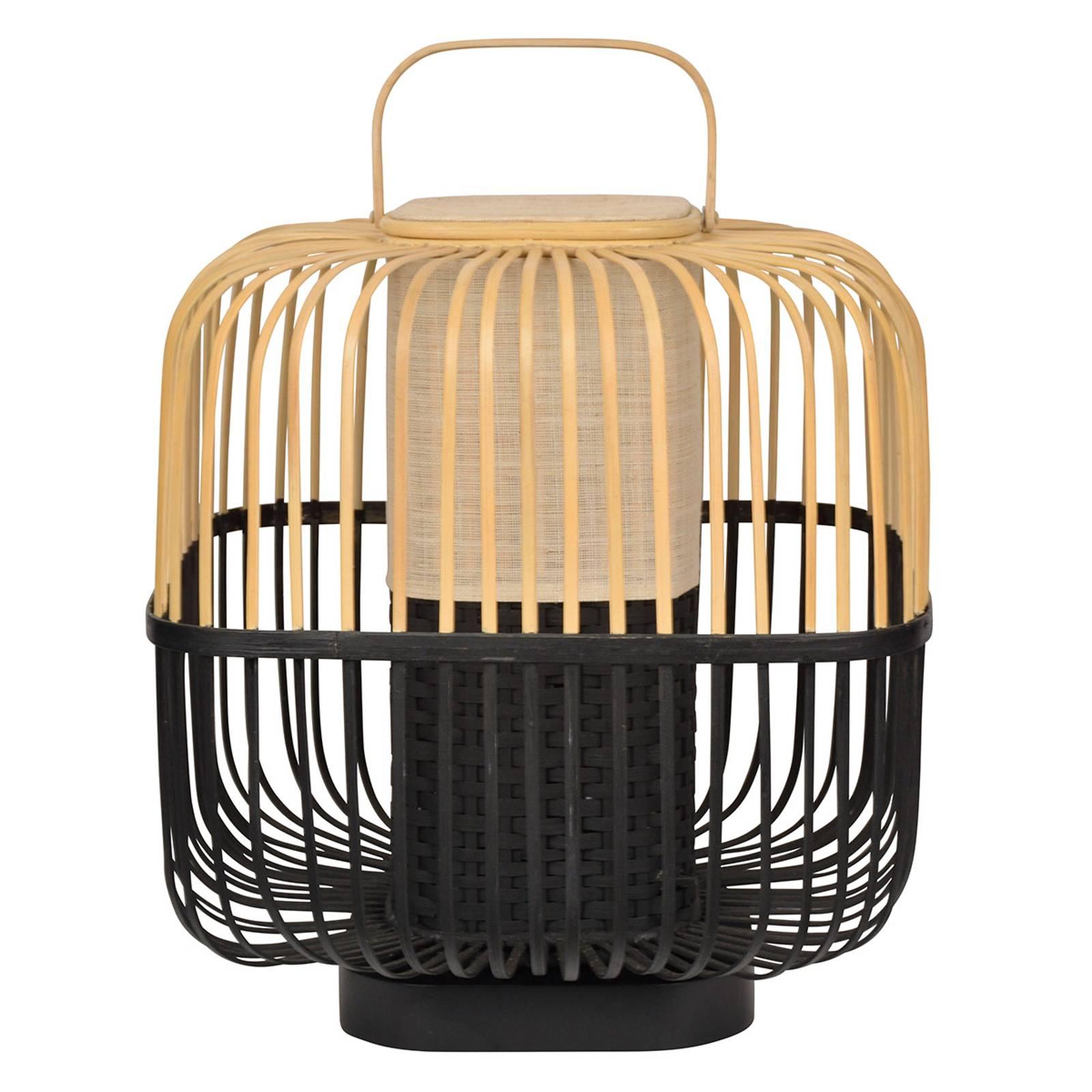 Forestier Bamboo Square M tafellamp in zwart