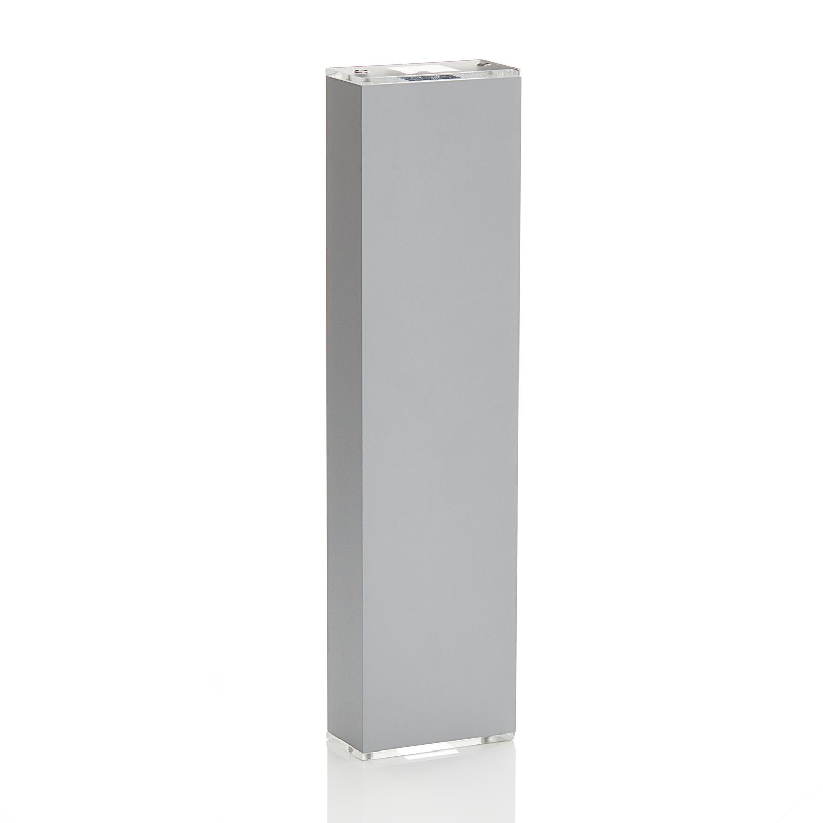 Lucande Anita LED-vegglampe sølv, høyde 17 cm