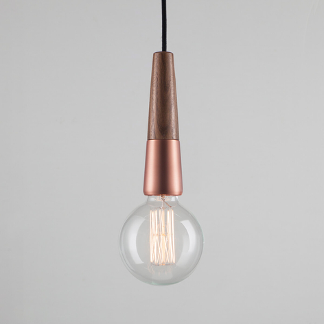 Stripped - skøn hængelampe i materialemiks