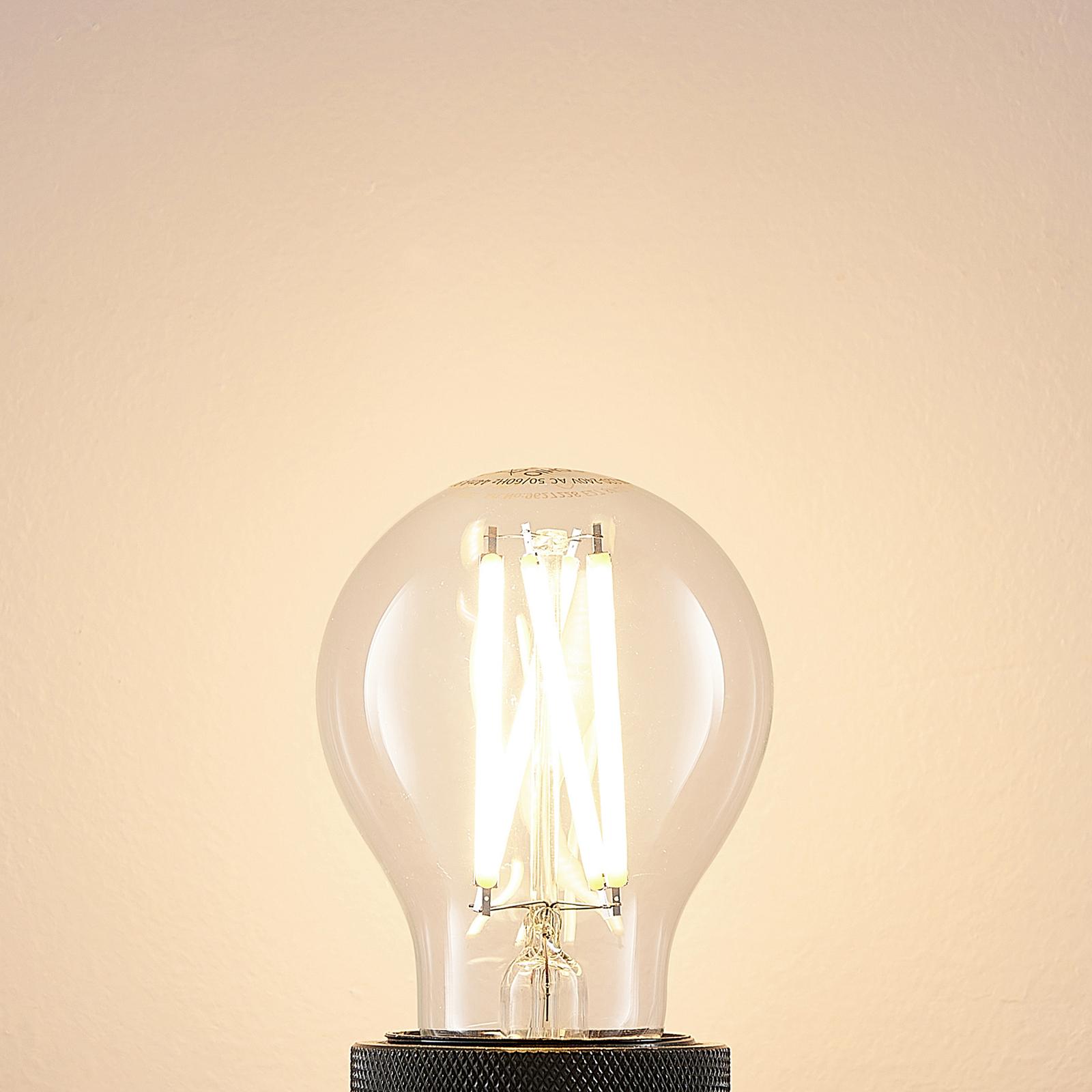 LED-pære E27 8W 2700K filament, dimbar, klar