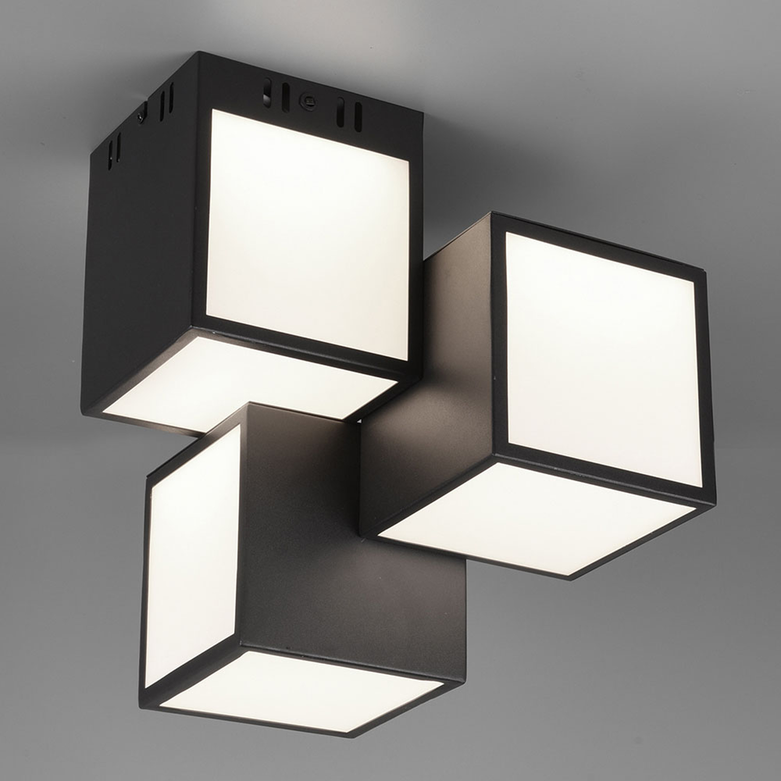 Trio WiZ Oscar LED-taklampa 30 x 30 cm, svart