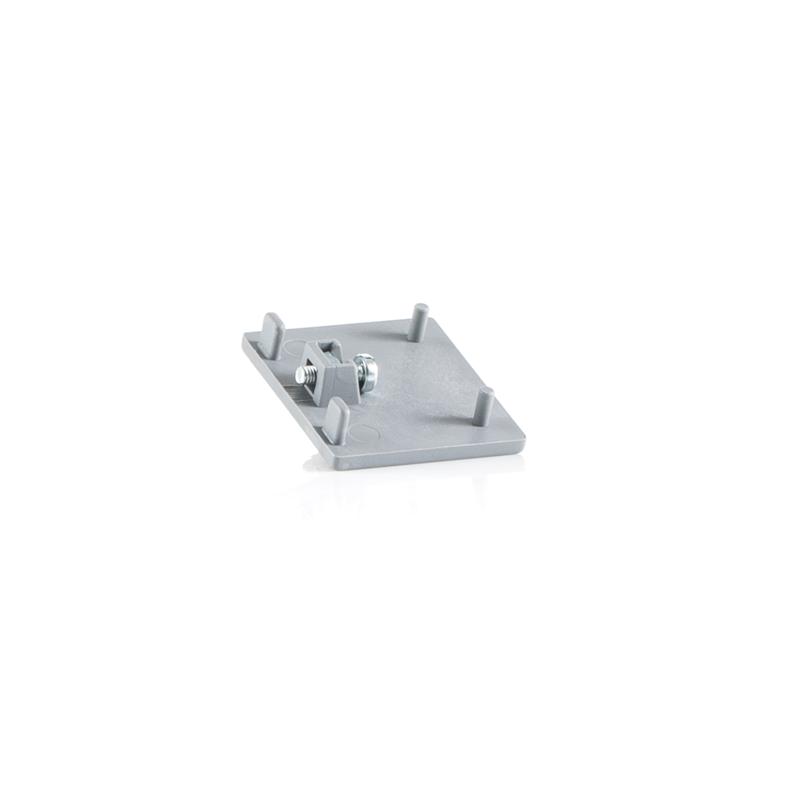 Ivela Endkappe für LKM quadro, silber