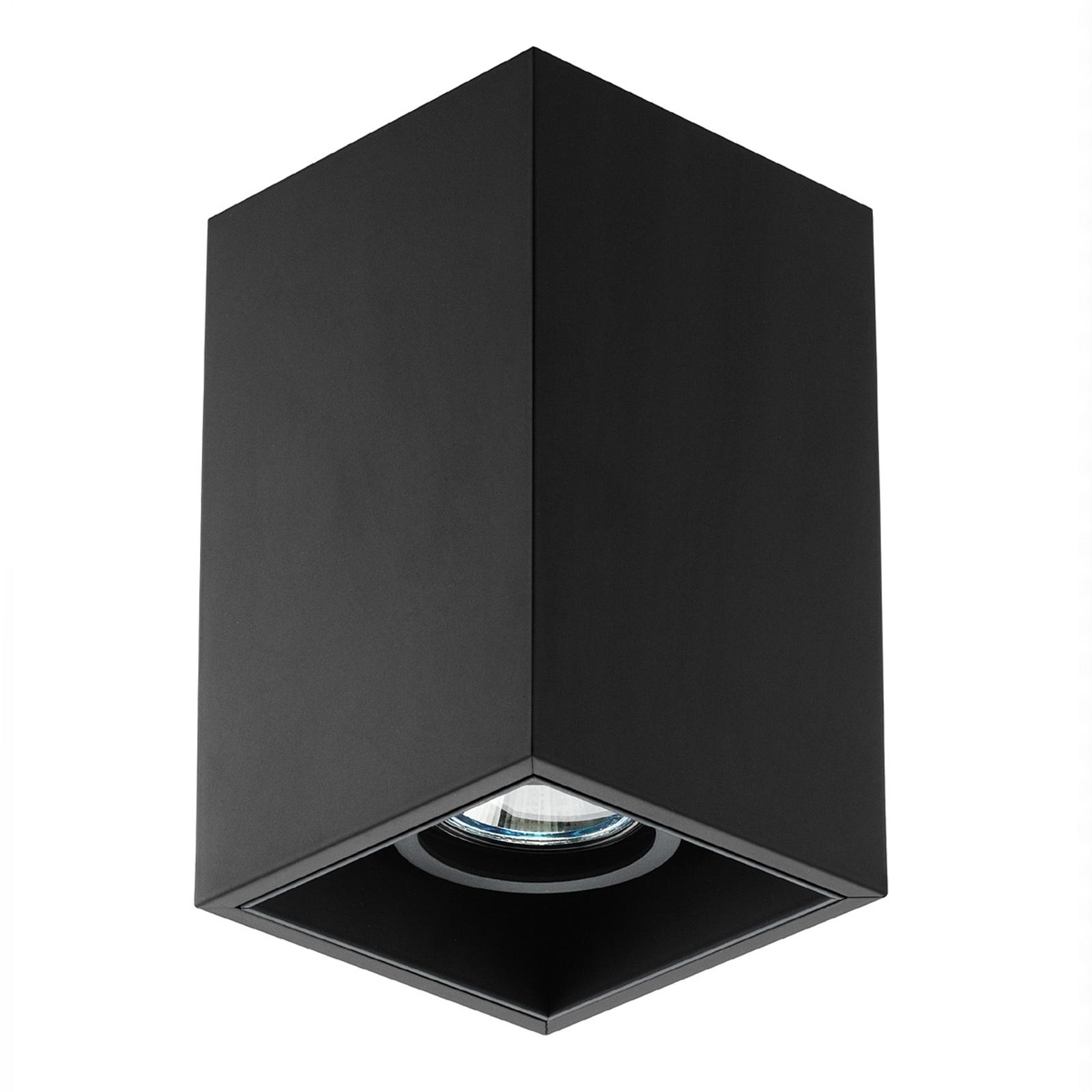 Lampada da soffitto a 1 luce Compass Box S, nero