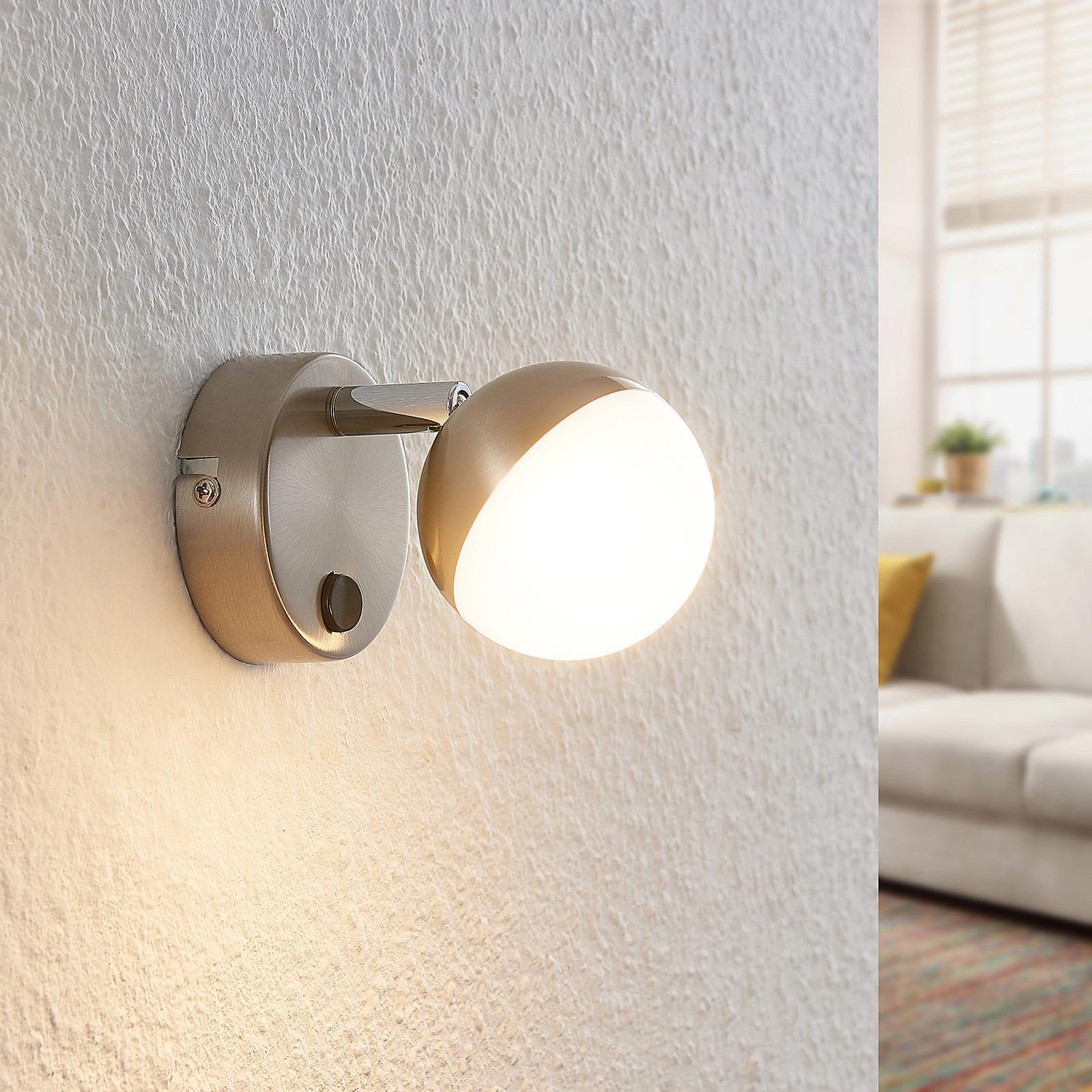 Lindby Lientje -LED-seinävalaisin terästä