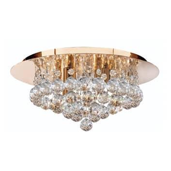 Deckenleuchte Hanna mit Kristallkugeln, 35 cm gold
