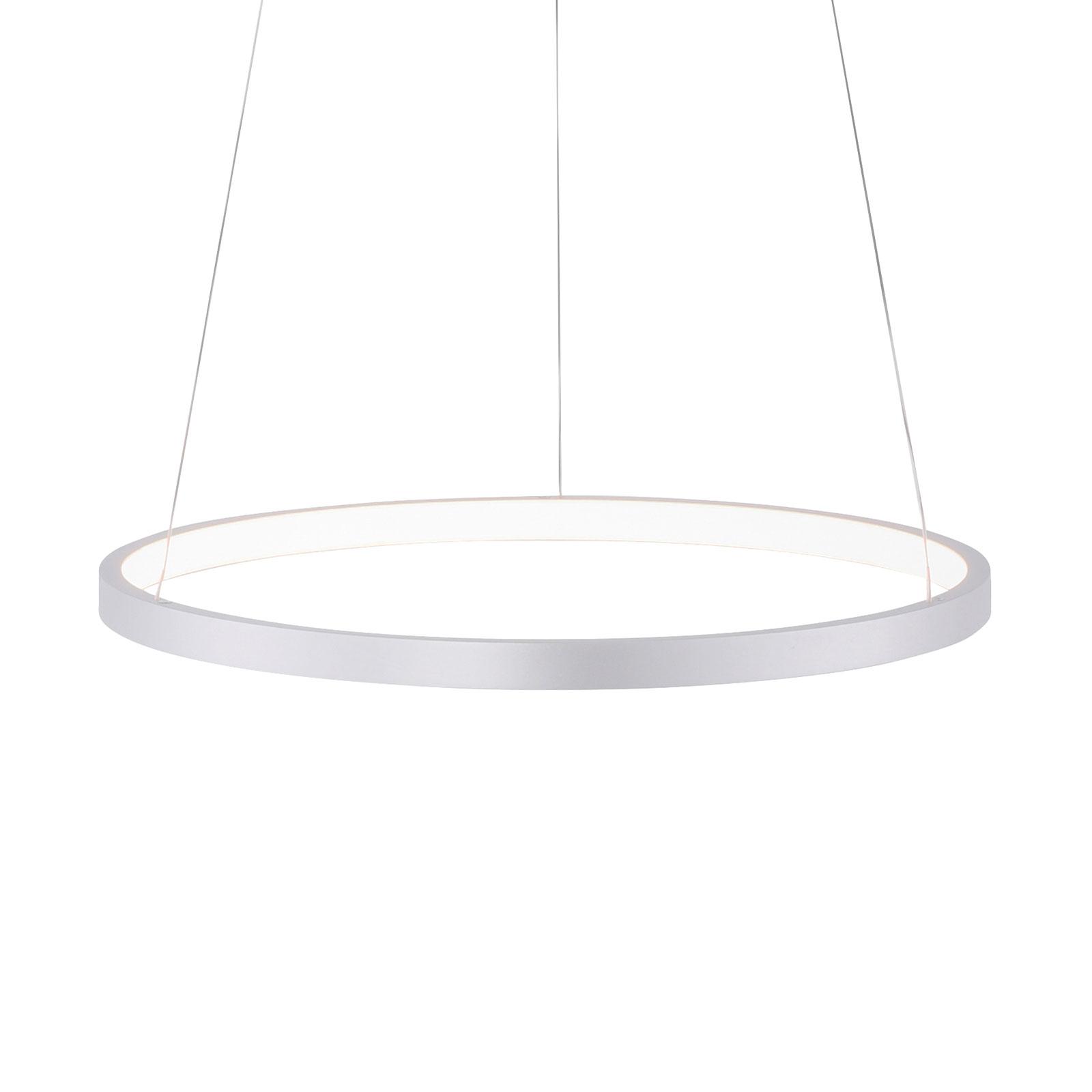 LED hanglamp Circle, zilver, Ø 39 cm