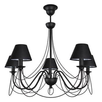 Kroonluchter Bona, 5-lamps, zwart