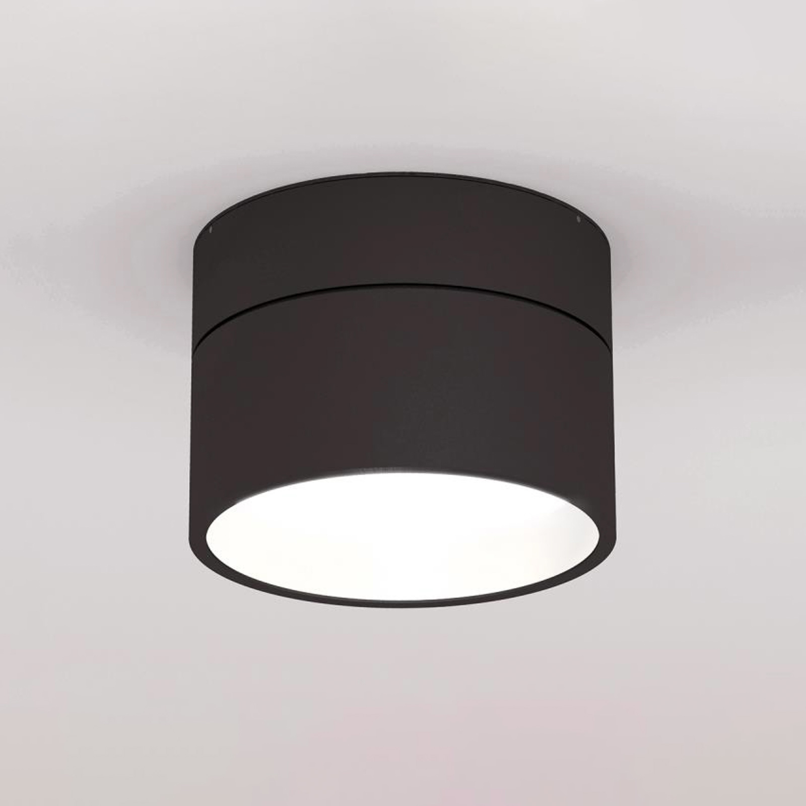 LOUM Turn on LED-taklampa dim 2700K svart/vit
