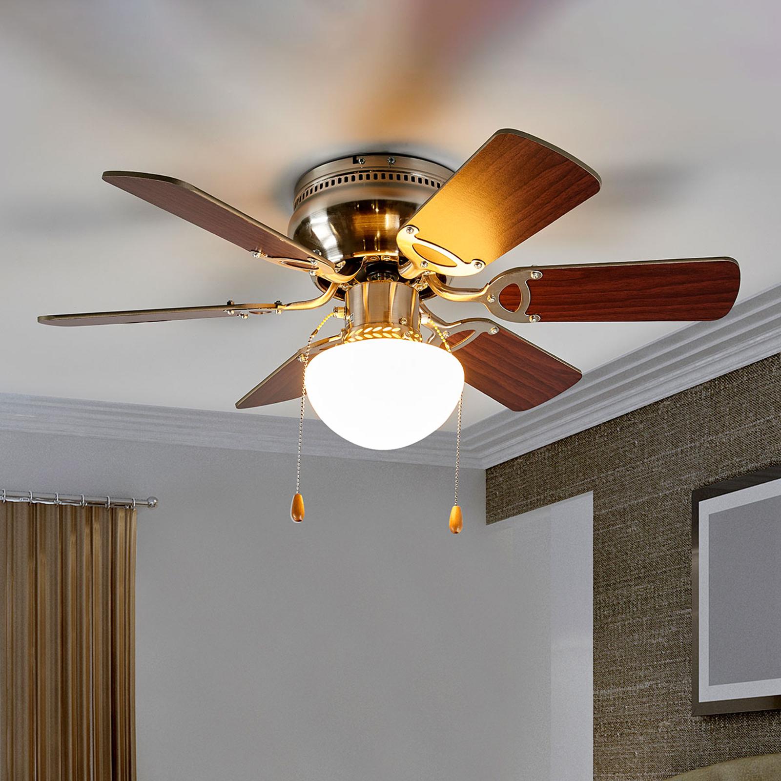 Osvětlený stropní ventilátor Flavio, 6vrtulí