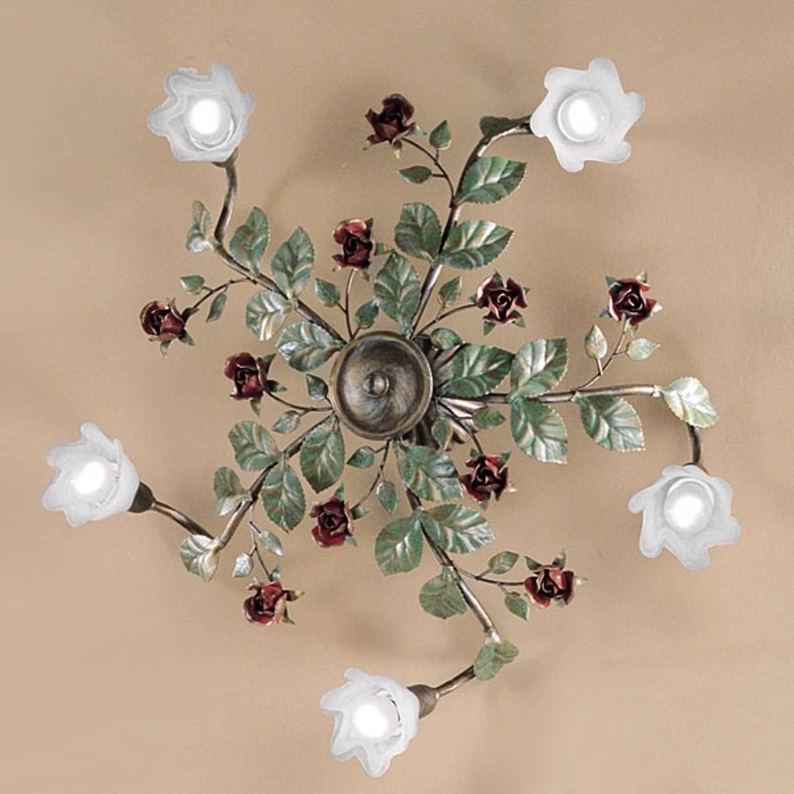 Lampa sufitowa Rosaio, okrągła, 5-punktowa